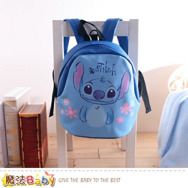 兒童背包 迪士尼史迪奇正版防走失小童雙肩背包 魔法Baby~f0241