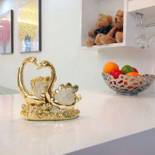 【天天特價】陶瓷天鵝家居裝飾品擺件客廳擺設工藝品結婚禮品