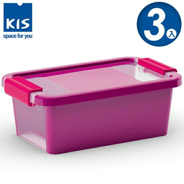 E&J【012011-04】義大利 KIS BI BOX 單開收納箱 XS 紫色 3入;收納盒/整理箱/收納櫃/玩具盒