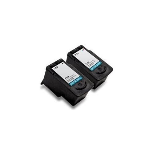 Printronic 2 Pack (1) Canon PG-210 and (1) Canon CL-211 Remanufactured Ink Cartridge e61fa65b77932be29e1ece11188ef4f7