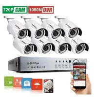 KAREye 16CH 1080N AHD DVR Video Security System with Smart Motion Detection and Alert 1TB Hard Drive, White