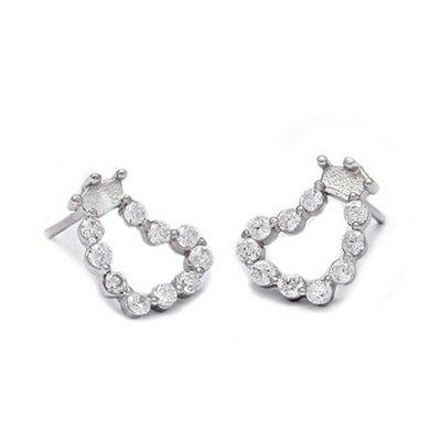 925純銀耳環鑲鑽耳飾~甜美氣質 百搭母親節生日情人節 女飾品73dm223~ ~~米蘭