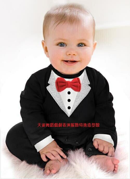 BABY BOY 201嬰幼兒男寶寶造型服連身套裝