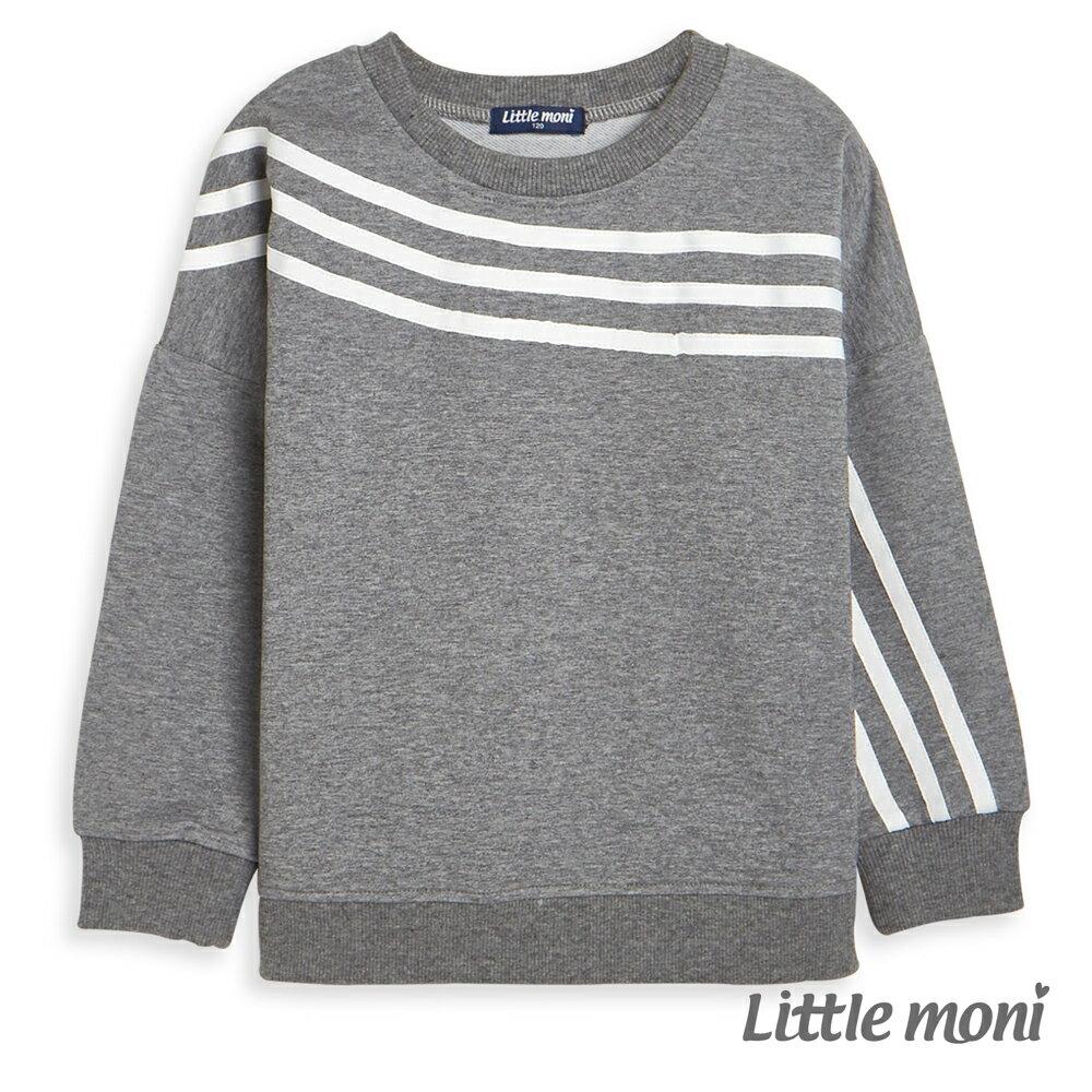 Little moni 條紋織帶上衣-麻花灰(好窩生活節) 0