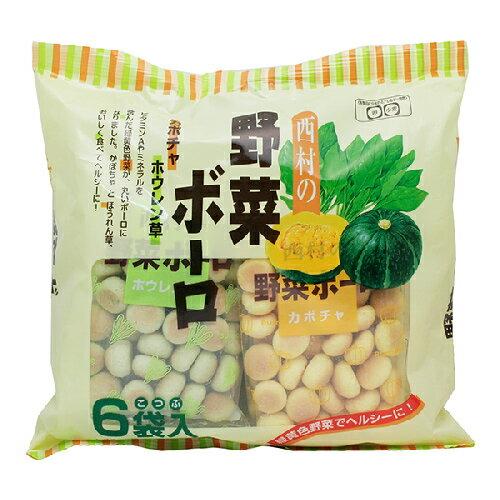 [哈日小丸子]西村蔬菜蛋酥(6袋/120g)