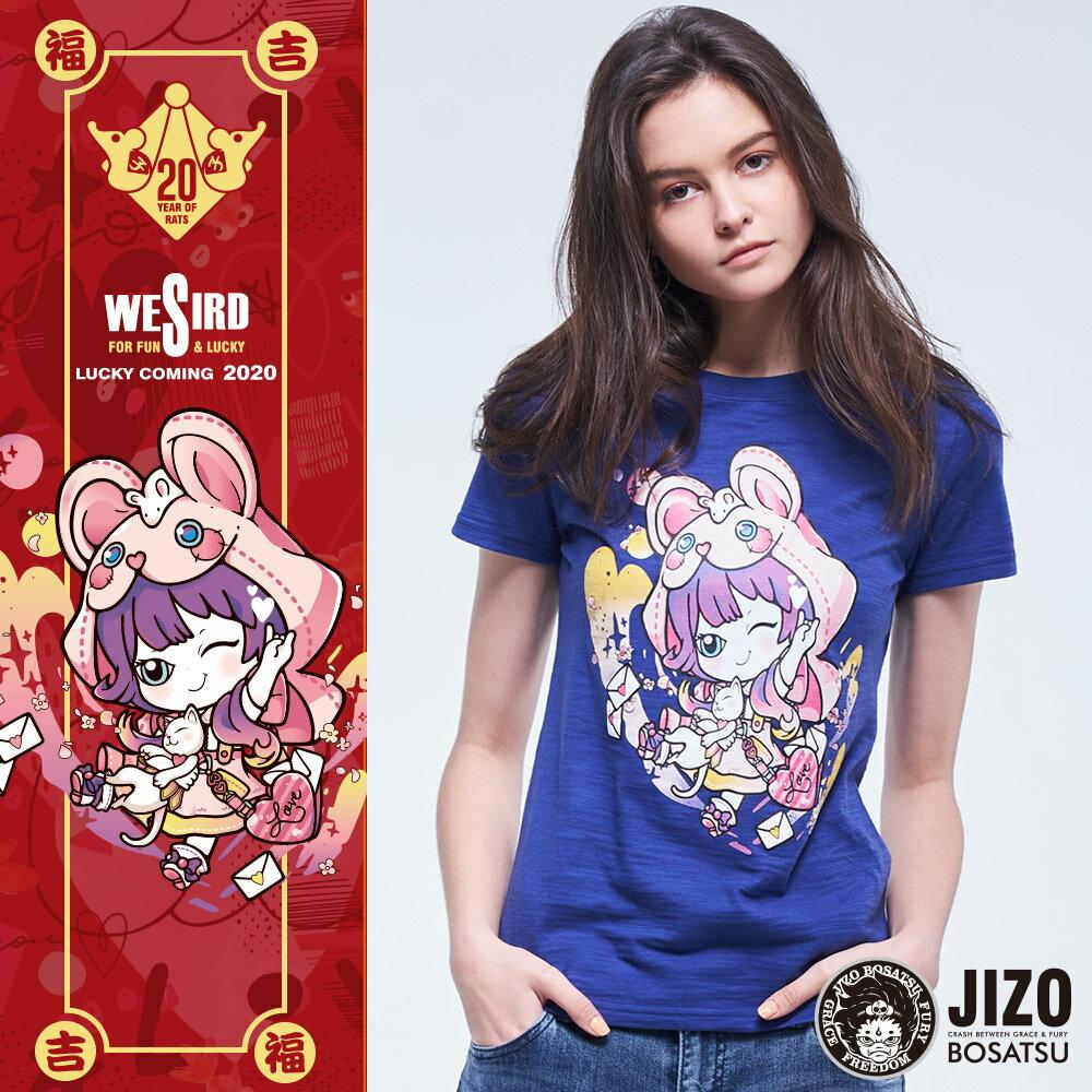 【2020春夏新品】金魚姬貓鼠遊戲短TEE(藍紫)  - BLUE WAY JIZO 地藏小王 0