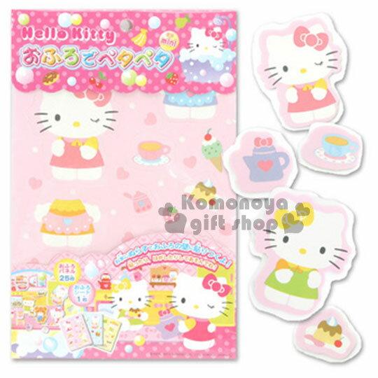 〔小禮堂〕Hello Kitty 洗澡壁貼玩具《粉.愛心》適合3歲以上孩童