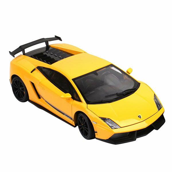 【888便利購】【KDW凱迪威】1:18藍寶堅尼LP570-4(黃色)高仿真精裝合金模型車(授權)(641009)