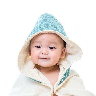 nizio 小蘑菇天然棉紗浴巾-藍綠點點【悅兒園婦幼生活館】