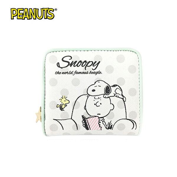 【日本正版】史努比皮革短夾皮夾錢包SnoopyPEANUTS-633063