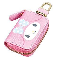 大賀屋 日貨 美樂蒂 汽車鑰匙包 鑰匙包 汽車鑰匙 車鑰匙 Melody 三麗鷗 Sanrio 正版授權 J00040059