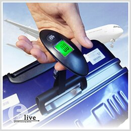 樂天 手提行李秤 發光 LED液晶電子秤 廚房