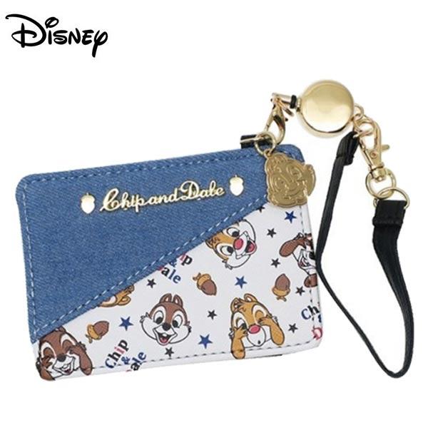 【日本正版】奇奇蒂蒂彈力票卡夾證件夾悠遊卡夾迪士尼Disney-489423