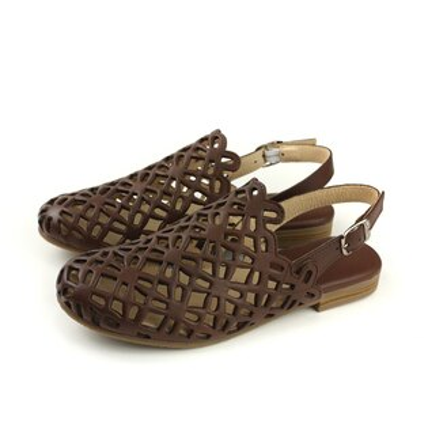 HUMANPEACE涼鞋簍空深咖啡色女鞋1022no349