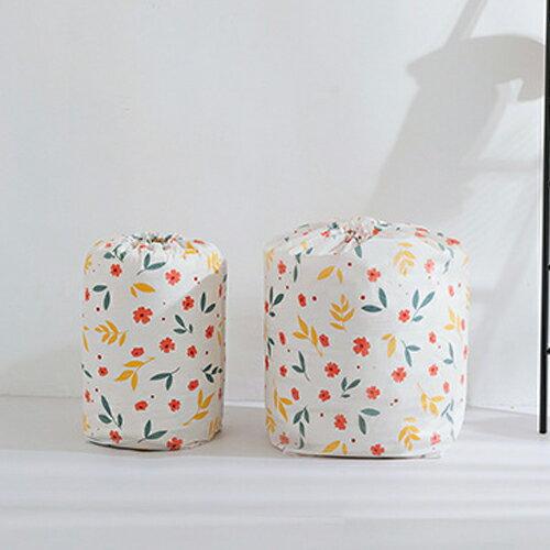 PS Mall 圓筒束口收納袋 棉被收納袋 大容量居家雜物收納防塵袋【J521】 2