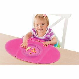 【淘氣寶寶】 美國 Summer Infant 防水學習餐墊 Tiny Diner 2 第二代新款 粉紅色【100%防水材質、易清洗、收納方便】