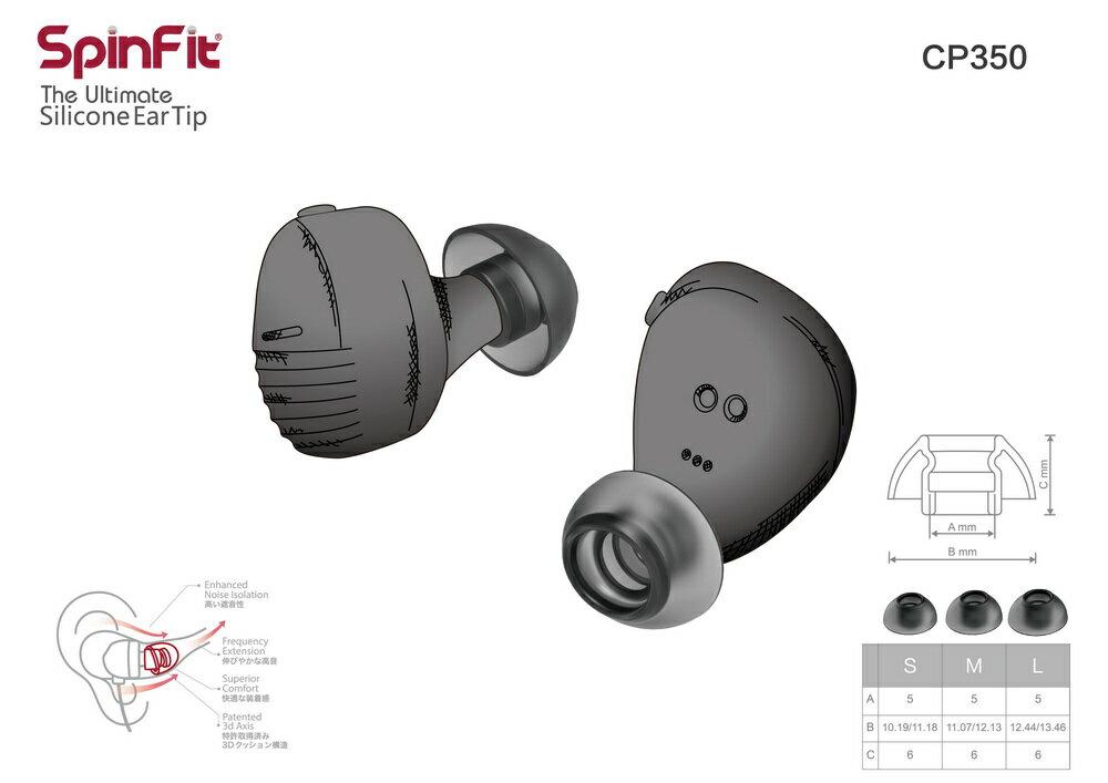 志達電子 CP350 一對入 SpinFit  CP350 會動的耳塞 專利技術 適用耳機管徑5mm