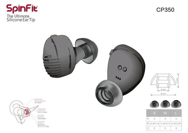 志達電子CP350一對入SpinFitCP350會動的耳塞專利技術適用耳機管徑5mm