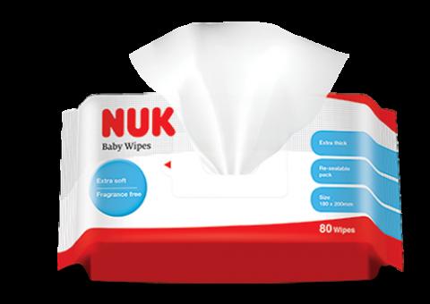 『121婦嬰用品館』NUK 濕紙巾80抽(20包/箱)