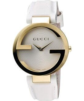 Gucci 古吉YA133313 經典雙G白金時尚腕錶/白面37mm