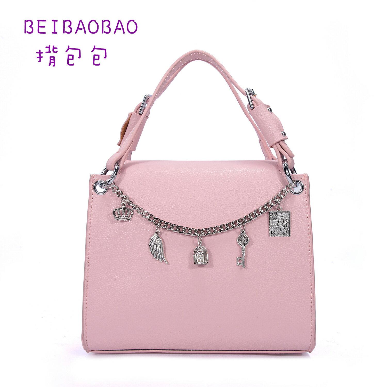 【BEIBAOBAO】東區時尚質感真皮手提包(名媛粉 共二色) 0