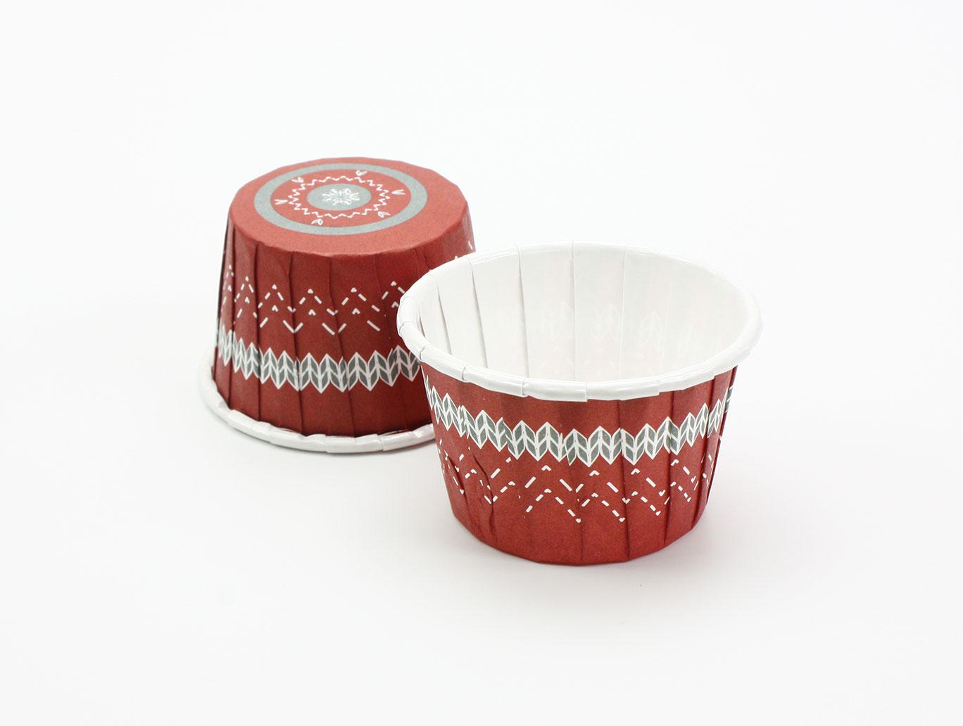 【PET4435】瑪芬杯、捲口杯、蛋糕紙杯、紙杯托、杯子蛋糕、百摺杯、堅口杯、烤箱用紙杯、耐高溫紙杯(時尚幾何)(100個/包)