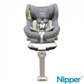 【限量加贈Oops 歐歐皮 安撫靠枕】台灣 Nipper First Class 360度 ISOFIX 兒童汽車安全座椅-時尚灰【紫貝殼】 - 限時優惠好康折扣