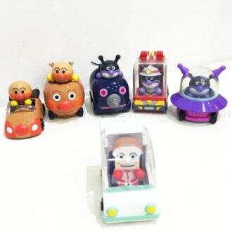 麵包超人 Anpanman GOGO公仔玩具車 麵包超人號 細菌人 潛地鼠 UFO 吐司超人號 消防車 玩具 日本進口