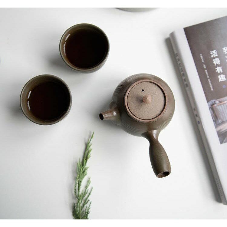 【紅芳庭】 唐羽壺 旅行組 / 一壺四杯 + 茶盤 尊爵禮盒 手拉坯 二度還原燒 還原燒 茶壺 茶具 泡茶用具