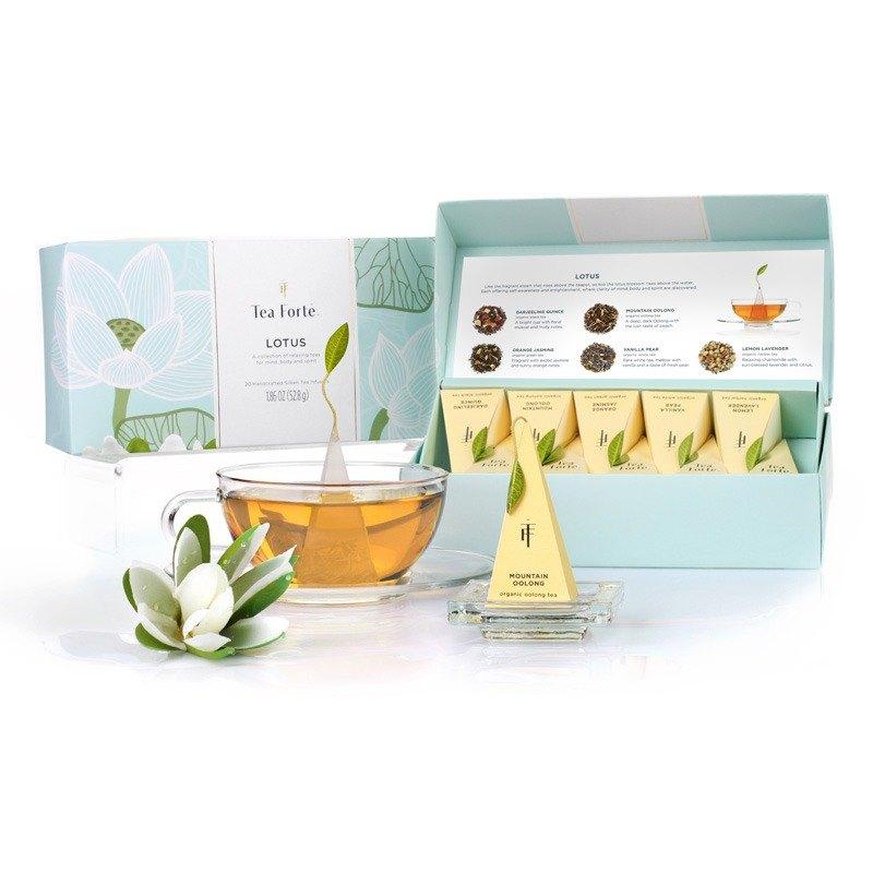 Tea Forte 10入金字塔絲質茶包 - 靜心蓮語 Lotus Petite Presentation Box 3