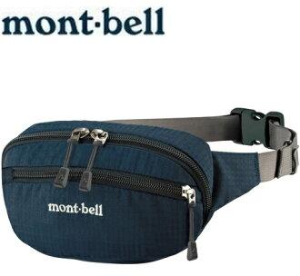 Mont-Bell 休閒腰包/旅行腰包 Delta gusset pouch S 1123763 NV海軍藍