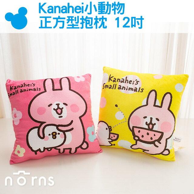 NORNS【Kanahei小動物正方型抱枕 12吋】正版 玩偶 小雞P助 小兔兔 貓咪 卡娜赫拉 可愛