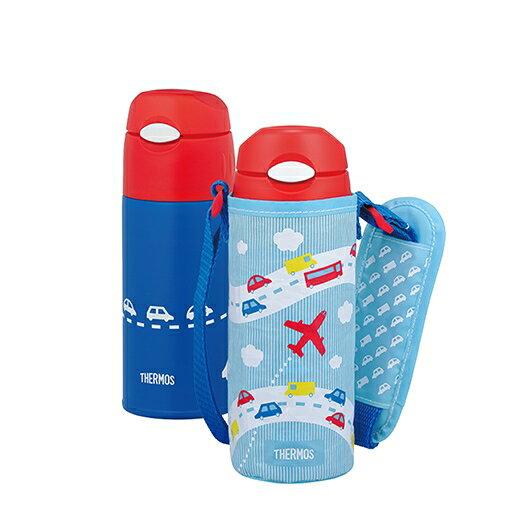 日本【Thermos】膳魔師不銹鋼真空保冷瓶-天空藍(FHL-400F-SKY) - 限時優惠好康折扣