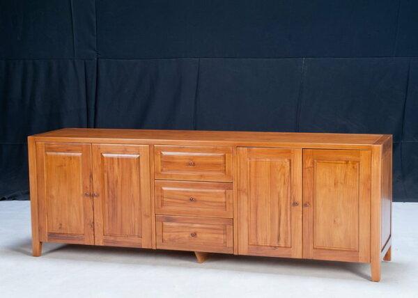 【石川家居】KL-66柚木7尺圓手把餐櫃碗碟櫃收納櫃台中以北搭配車趟免運費