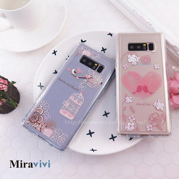 Miravivi:Miravivi原創時尚SamsungGalaxyNote8施華洛世奇水鑽永恆愛語防摔氣墊空壓保護套