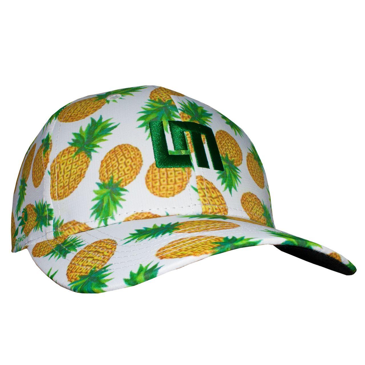 LOUDMOUTH 英國高爾夫服飾品牌-白底鳳梨休閒運動帽