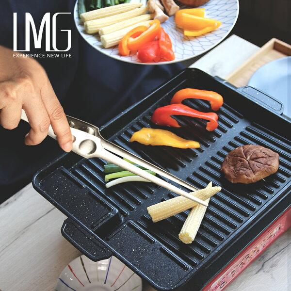 韓國麥飯石不沾烤盤+不沾桌立夾組
