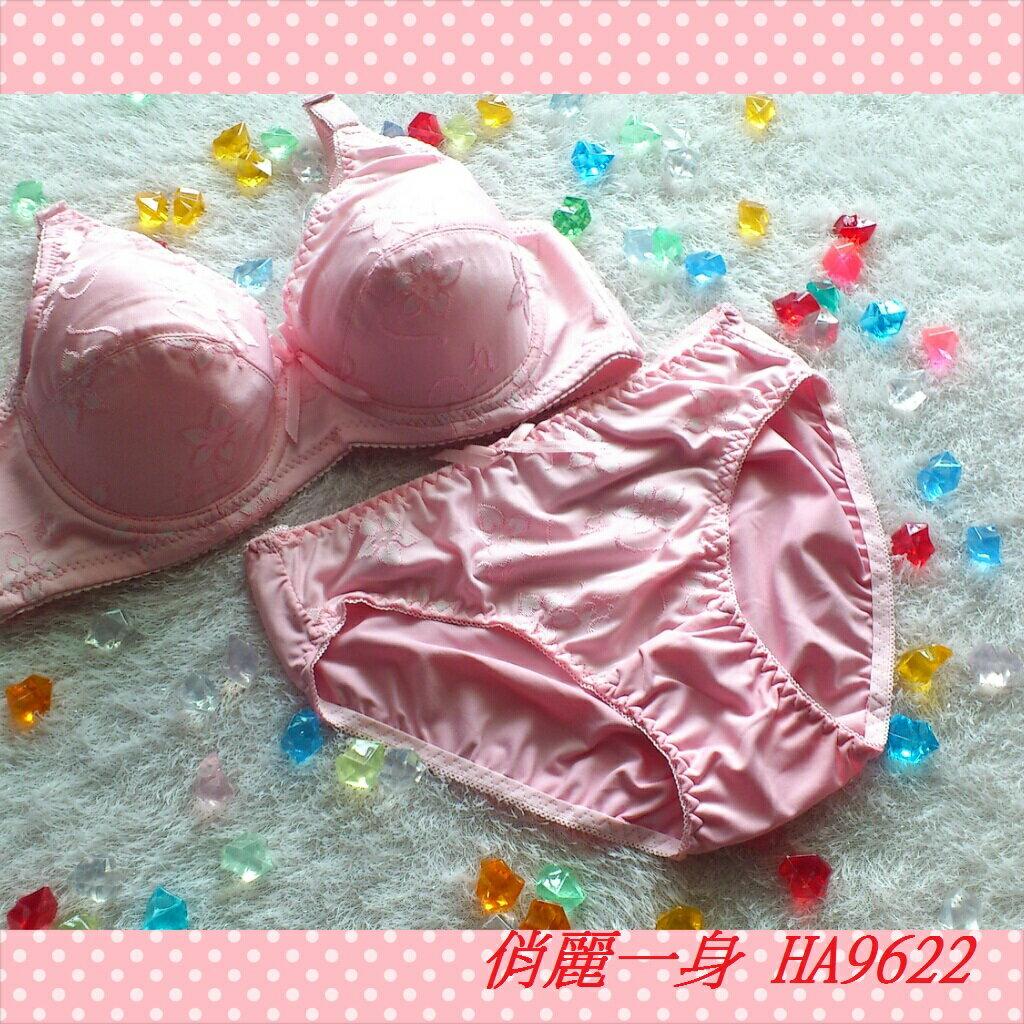 全罩杯調整型內衣大罩杯集中機能型34/36/38/40/42 (CDE罩杯含內褲)俏麗一身HA9622