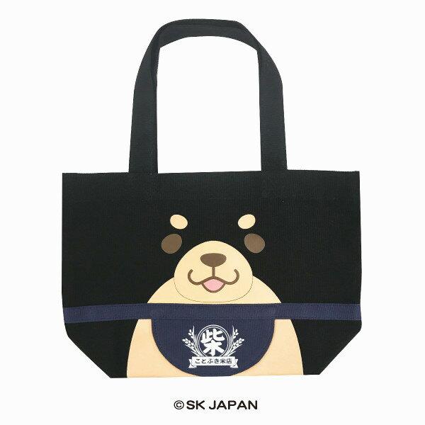 日本Mochishiba肩背帆布托特包購物袋(黑柴)