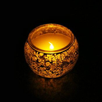 LOURDES AX-KAL12Ssl玻璃鑲嵌LED蠟燭燈(銀)
