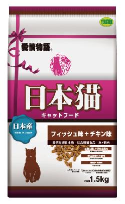 ?Double妹寵物?日本YEASTER 愛情物語 日本貓 魚+雞肉 成貓1.5kg