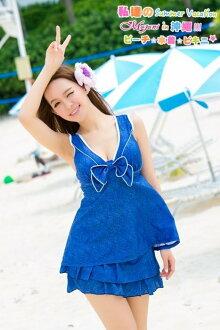 [瑪嘉妮Majani] 中大尺碼泳衣泳裝-超顯瘦修飾 遮肚屁 3XL~6XL 特價650 免運 ss-275