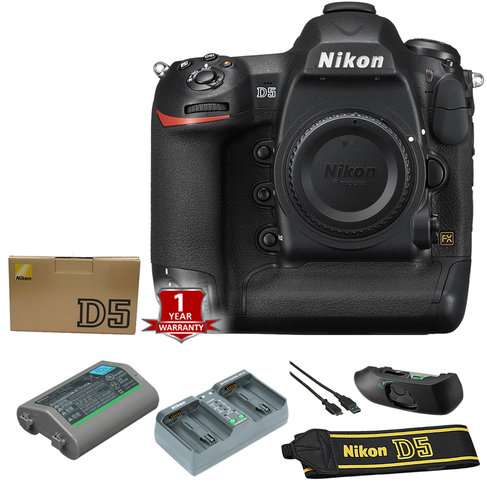 Nikon D5 DSLR Camera (Body Only, Dual XQD Slots) International Model