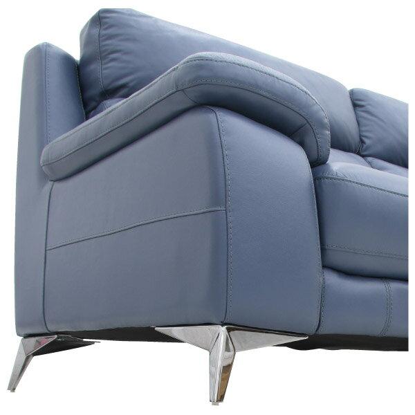 ◎HTL高級全皮3人用沙發 H486 BL NITORI宜得利家居 5