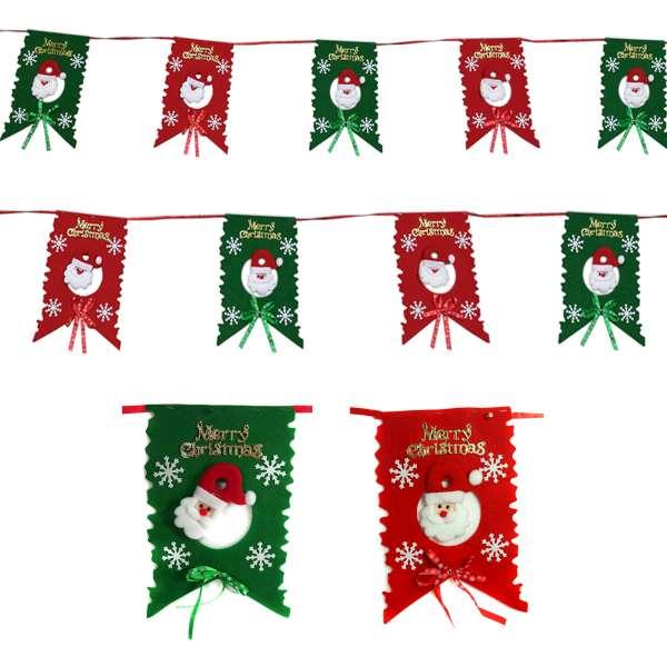 聖誕布旗拉條-紅綠聖誕老公公 YS-HD160015