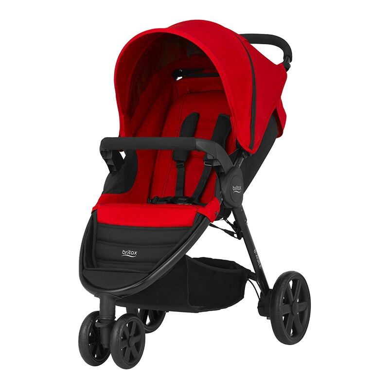 Britax - B-Agile單手收豪華三輪手推車 紅 (附前扶手) 加購Britax - Baby-Safe提籃汽座特價優惠!
