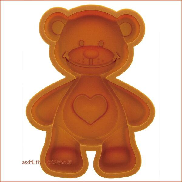 asdfkitty可愛家☆梨花熊suzy'szoo小熊矽膠模型巧克力模蛋糕模冰塊模飯糰模-日本正版