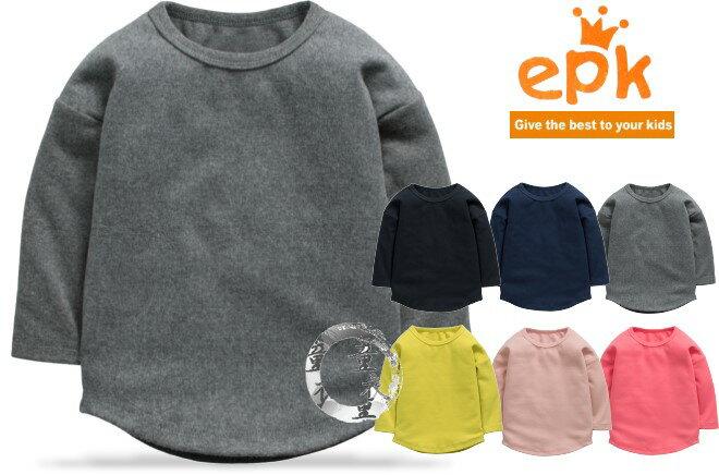 童衣圓~AA160~AA160寬版圓擺衣 epk 長袖 圓領 針織綿 素面 純色 內搭 T
