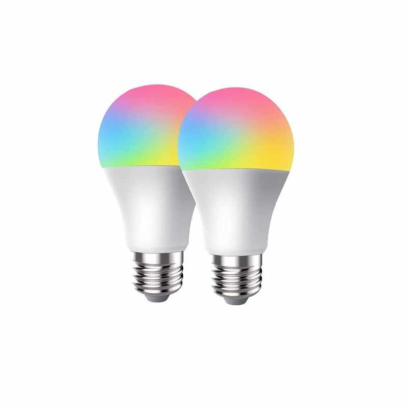 CRESTIN LED 智能WiFi燈泡 2入 RGBW變色 兼容Alexa/Google Home/Assistant [2美國直購]