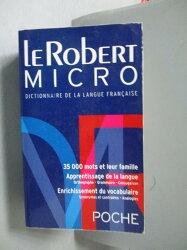 【書寶二手書T8/語言學習_OOA】Le Robert Micro Poche Dictionaire De LA La